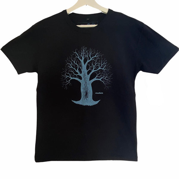 black t-shirt with boab tree design