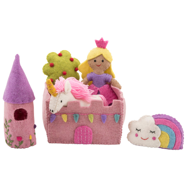Felt toys play set princess