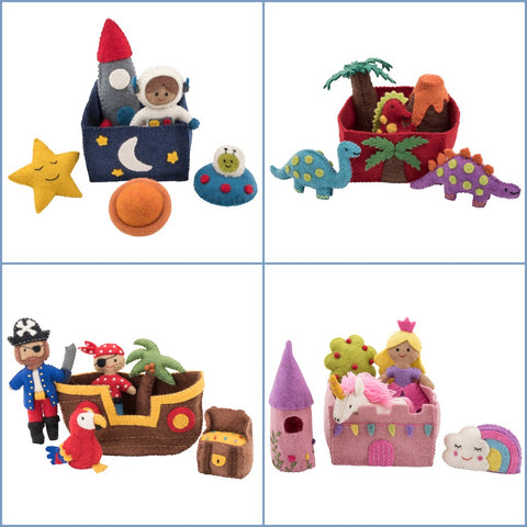Felt toys play set collection