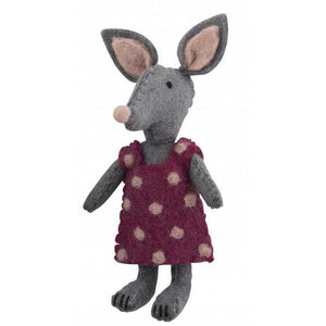 felt bilby doll in pink dress