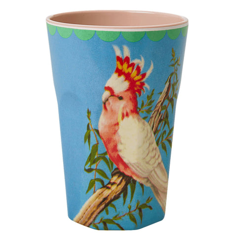 Rice Melamine Tall Cup With Bird Print - Thailand