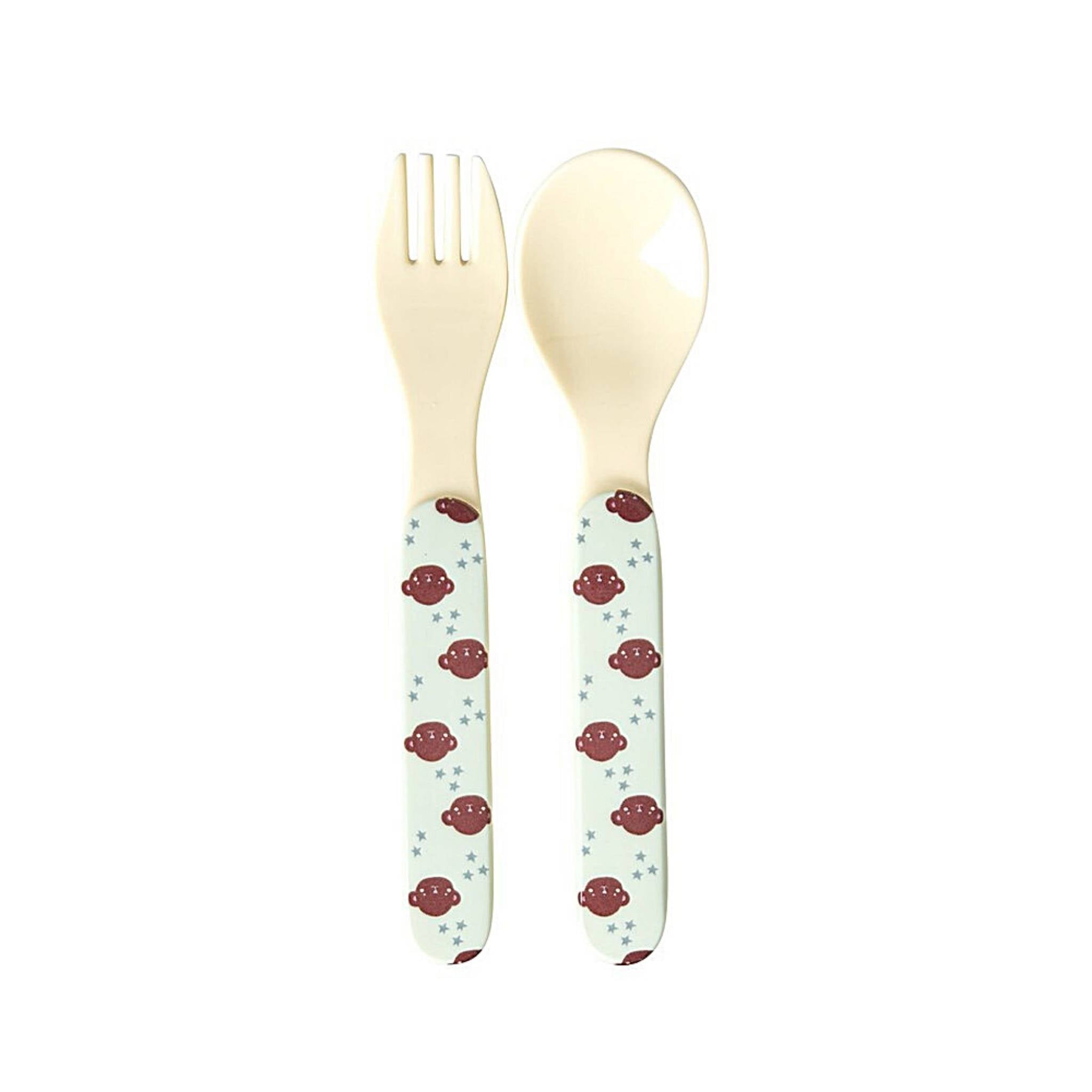 Rice Melamine Spoon & Fork Set - Thailand
