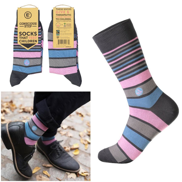socks that feed children - stripes