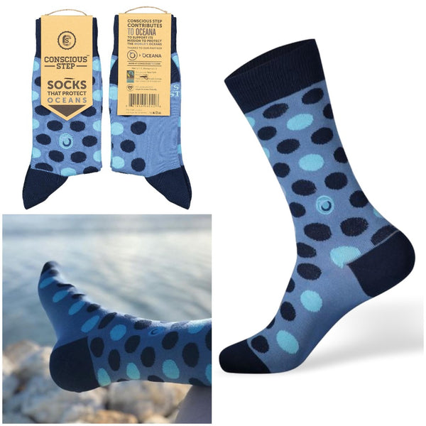 socks that protect oceans - blue spots