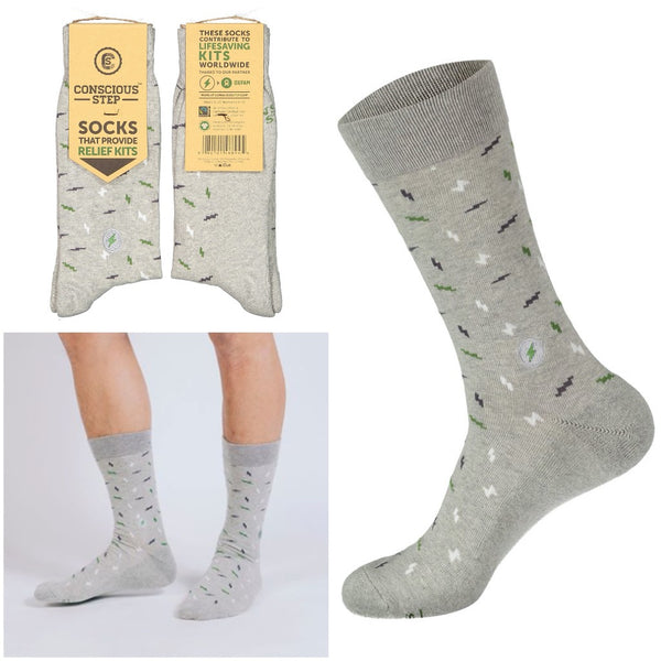socks that provide relief kits - light grey