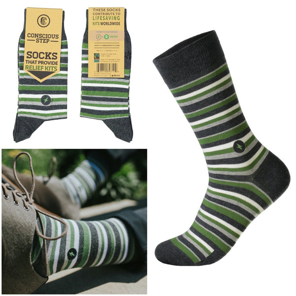 socks that provide relief kits - stripes