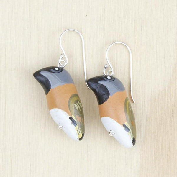 Songbird earrings black throated finch - Shop Fair Trade, Handmade, Ethical Gifts & Jewellery Australia at ONLY JUST.