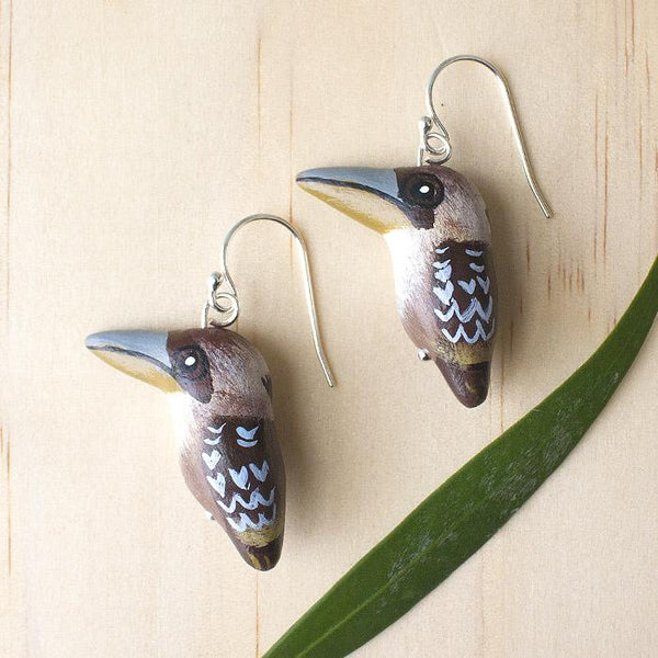 Songbird earrings kookaburra - Shop Fair Trade, Handmade, Ethical Gifts & Jewellery Australia at ONLY JUST
