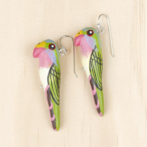 Songbird earrings princess parrot - Shop Fair Trade, Handmade, Ethical Gifts & Jewellery Australia at ONLY JUST.