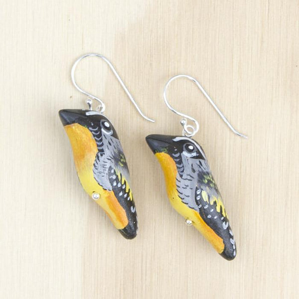 Songbird earrings spotted pardalote - Shop Fair Trade, Handmade, Ethical Gifts & Jewellery Australia at ONLY JUST.