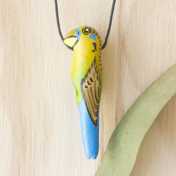 Songbird necklace budgerigar - Shop Fair Trade, Handmade, Ethical Gifts & Jewellery Australia at ONLY JUST.