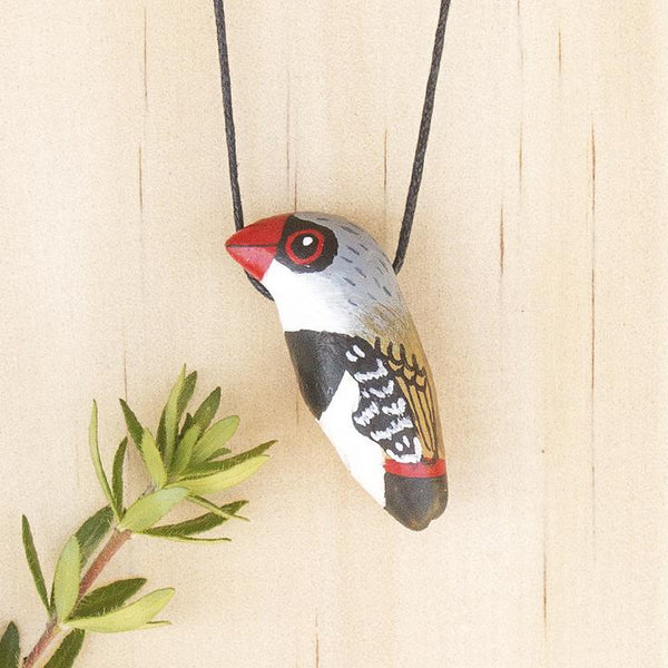 Songbird necklace diamond firetail- Shop Fair Trade, Handmade, Ethical Gifts & Jewellery Australia at ONLY JUST.