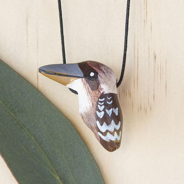 Songbird necklace kookaburra - Shop Fair Trade, Handmade, Ethical Gifts & Jewellery Australia at ONLY JUST.