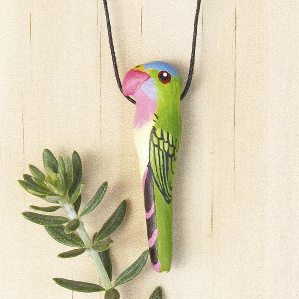 Songbird necklace princess parrot - Shop Fair Trade, Handmade, Ethical Gifts & Jewellery Australia at ONLY JUST.