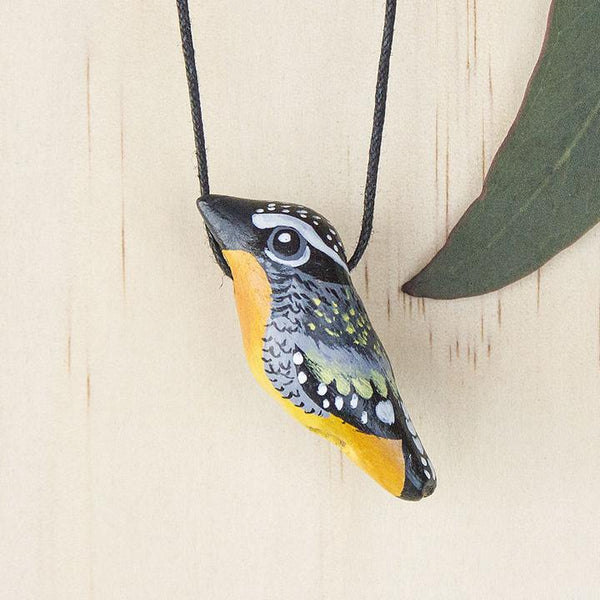 Songbird necklace spotted pardalote - Shop Fair Trade, Handmade, Ethical Gifts & Jewellery Australia at ONLY JUST.