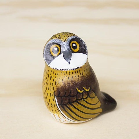 Songbird paperweight boobook owl - Shop Fair Trade, Handmade, Ethical Gifts & Jewellery Australia at ONLY JUST.