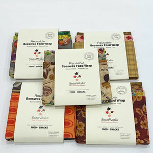 SisterWorks Beeswax Wrap - Pack of 3, Australia