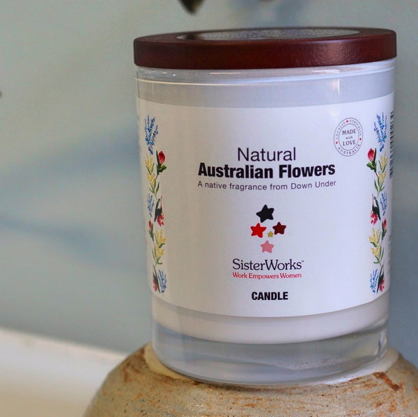 Sisterworks ethically handmade Soy candles - Australian flowers fragrance - Fair Trade, Handmade, Ethical Gifts and Homewares at ONLY JUST