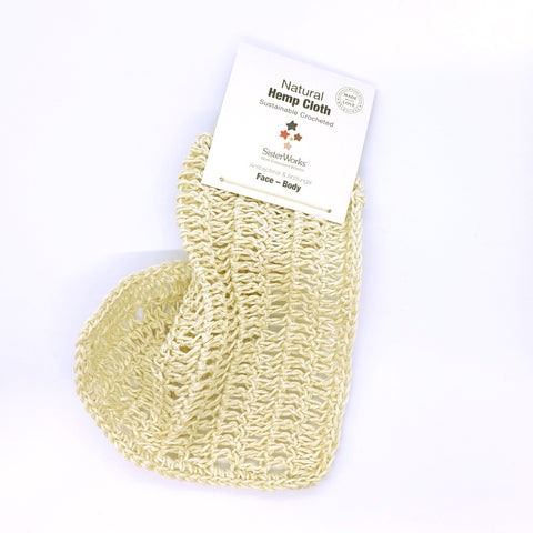 Sisterworks ethically handmade sustainable hemp washcloth - Fair Trade, Handmade, Ethical Gifts and Homewares at ONLY JUST
