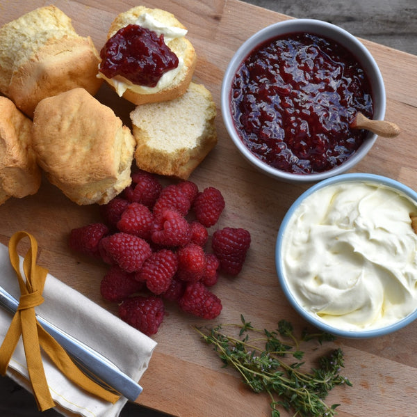 Sisterworks ethically handmade vegan raspberry jam with scones and cream - Fair Trade, Handmade, Ethical Gifts and Homewares at ONLY JUST