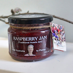 Sisterworks ethically handmade vegan raspberry jam in a jar - Fair Trade, Handmade, Ethical Gifts and Homewares at ONLY JUST