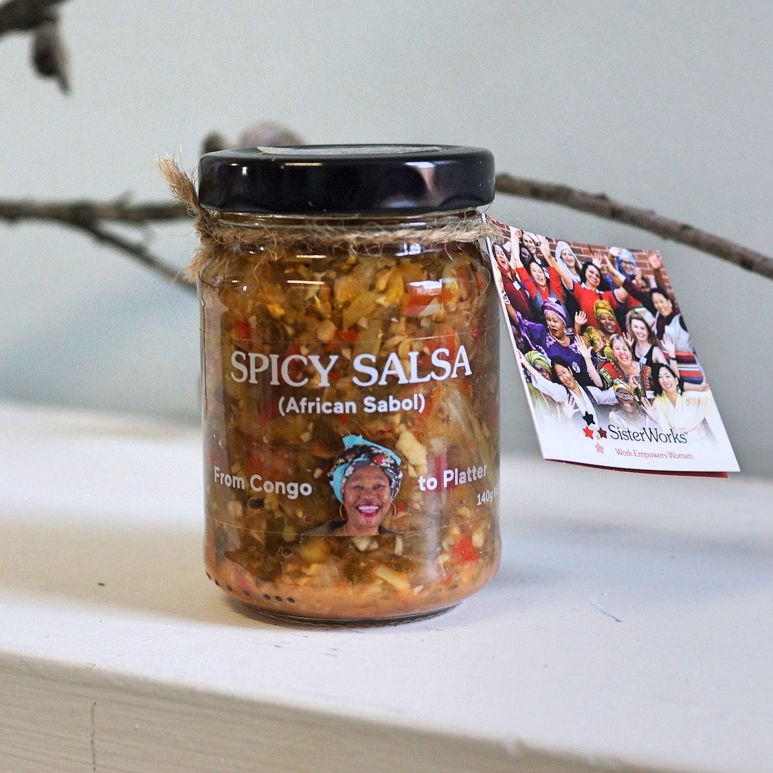 Sisterworks ethically handmade vegan spicy salsa - African Sabol - Fair Trade, Handmade, Ethical Gifts and Homewares at ONLY JUST