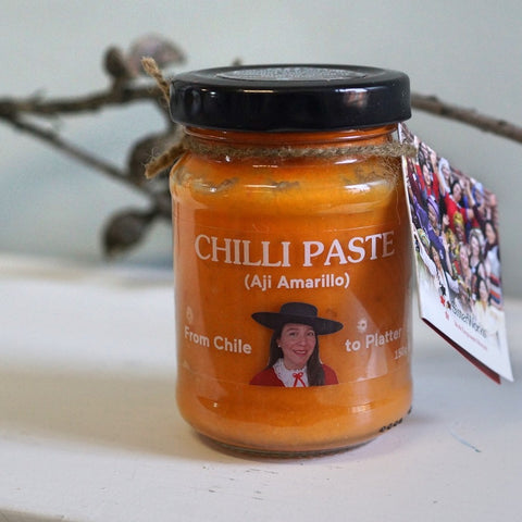 Sisterworks ethically handmade vegan chilli paste from Chile - Aji Amarillo - Fair Trade, Handmade, Ethical Gifts and Homewares at ONLY JUST