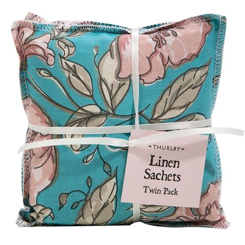 Thurlby Linen Sachet Set - Flourish, India / Australia
