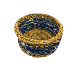 U-Chus Seagrass & Recycled Denim Basket - Medium, Bangladesh