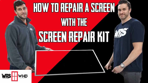 How to Repair a screen with a screen repair kit