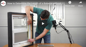 How to Determine the Length of a Window Balance from Sash Height