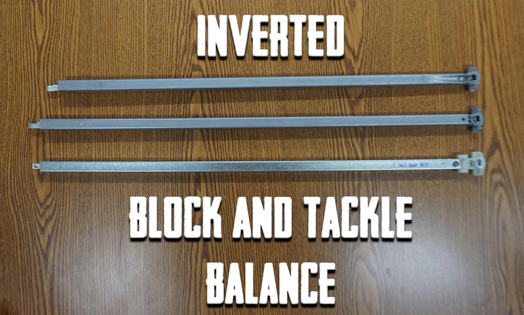 Inverted block and tackle balance replacement