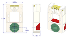 "01-116 Diagram of WRS 9/16"" x 1-1/4"" Pivot Lock Shoe with Green Cam"