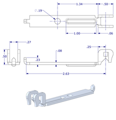 "WRS 2-15/16"" Stamped Steel Balance Bracket"