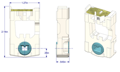"01-18 Diagram of WRS 9/16"" x 1-1/4"" Pivot Lock Shoe with Blue Cam"