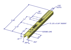"01-45 Diagram WRS 3"" Slotted Pivot Bar with U-Shaped Head"