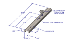 01-48HT Diagram of WRS U-Shaped Pivot Bar with Screw