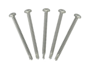 Square Drive Self Drilling Stainless Steel Screws - #8 x 2""