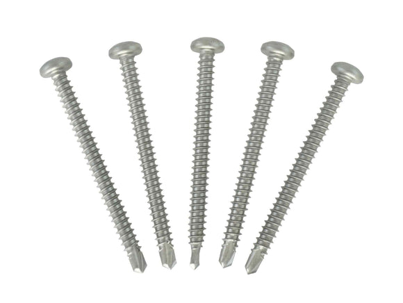 Square Drive Self Drilling Stainless Steel Screws - #8 x 2