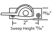 "014-14 Truth Hardware 2"" Die Cast Cam Lock Diagram"
