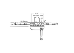 014-150 Truth Hardware Rear Mounted Single Arm Operator Diagram
