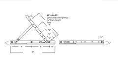 "Truth 7/16"" Concealed Awning Hinge Diagram"