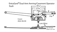 Truth Hardware EntryGard Dual Arm Awning / Casement Operator