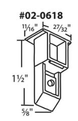 "02-0618 Diagram of WRS 1-1/2"" x 11/16"" Sash Cam"