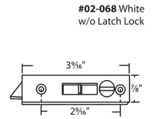 "WRS White 2-9/16"" Tilt Latch Set"