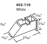 "02-110 Diagram of Truth 2-15/16"" x 1-1/16"" White Sash Cam"