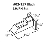 "02-157 Diagram of WRS 1-9/16"" x 1-3/16"" Black Sash Cam"