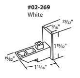 "02-269 Diagram of Truth 1-13/16"" x 29/32"" White Sash Cam"