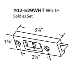 "WRS 2-1/8"" White Tilt Latch Set"