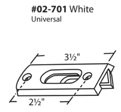 "WRS 2-1/2"" White Universal Tilt Latch"